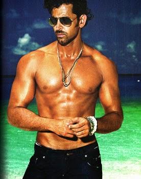 hritik Roshan showing his muscles
