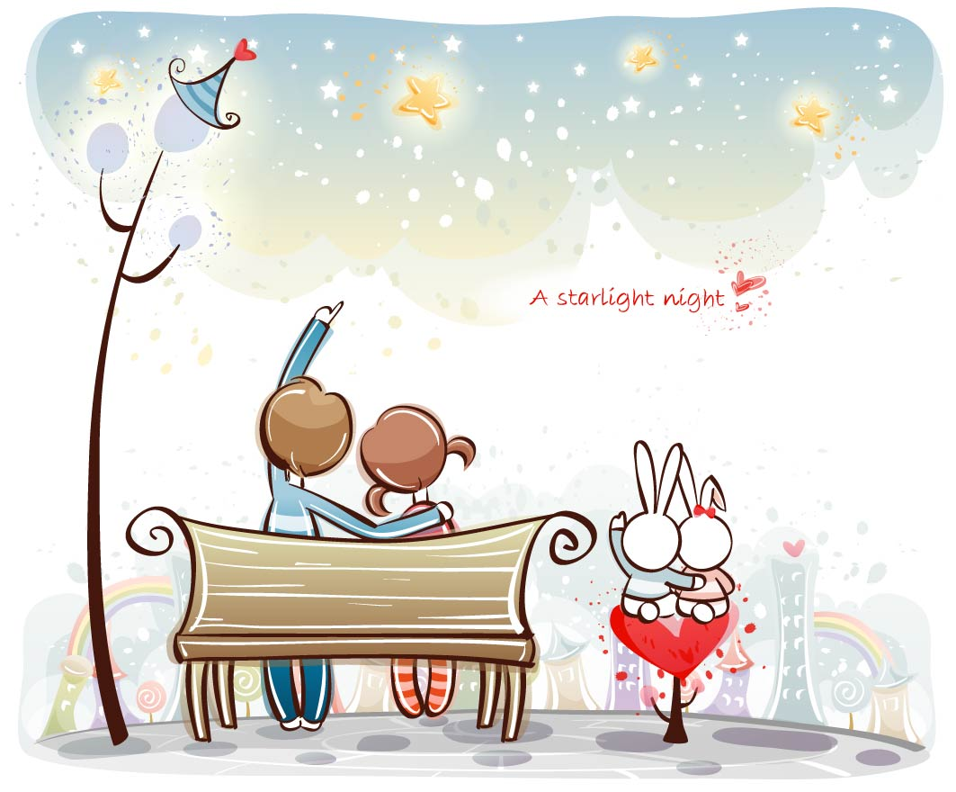 love_the_small_couple_vector_3140_7
